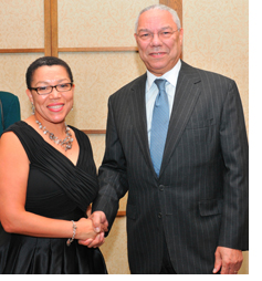 Anne Beal and Colin Powell honored for Inst for Advancement of Multicultural and Min Med