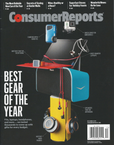 Consumer Reports Dec 2014 cover Best Gear