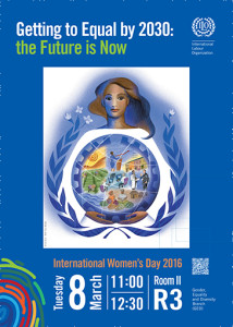 Getting to Equal by 2030 50-50 Intl WOmen's Day ILO